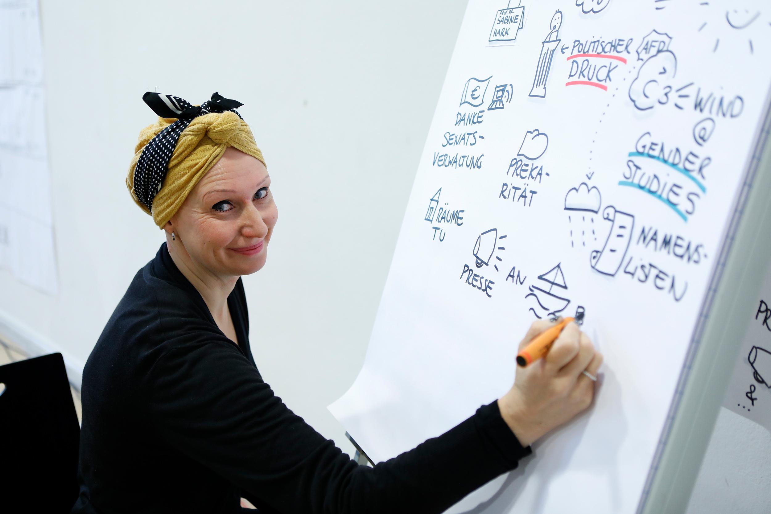 Beim Barcamp Der Gender Studies Fertigte Nina Neef Ein Live Graphic Recording Für Die Afg Berlin In Der TU Berlin An.