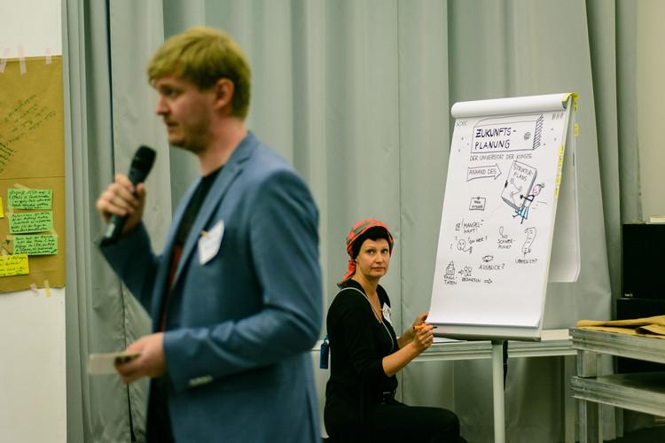 Nina Neef Erstellte Ein Live Graphic Recording Beim Zukunftstag Der UdK.